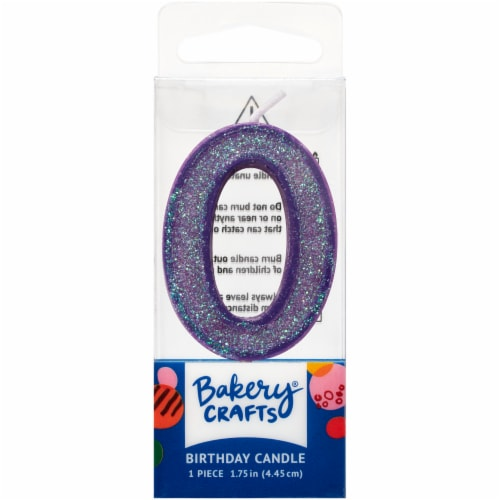 DecoPac Zero Birthday Candle Cake Decoration - Purple Perspective: front