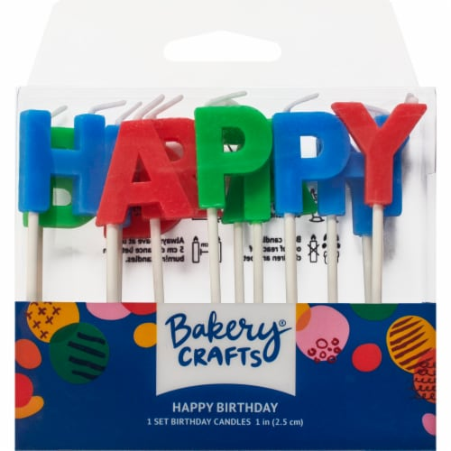 DecoPac Happy Birthday Letter Candles Perspective: front