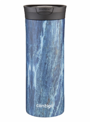 Contigo Couture Huron SnapSeal Water Bottle - Blue Slate Perspective: front