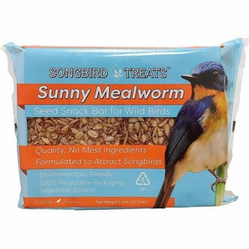 Wildlife Sciences WSC903 1.6 lbs Sunny Mealworm Seed Bar - Pack of 8 Perspective: front