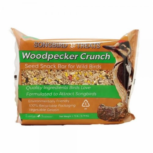 Wildlife Sciences WSC911 8 oz Woodpecker Crunch Seed Bar Perspective: front