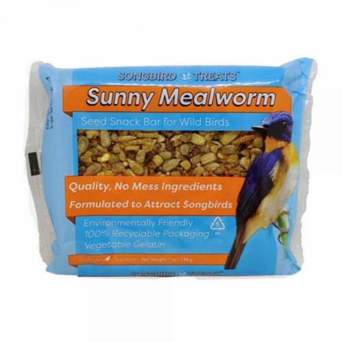Wildlife Sciences WSC913 7 oz Sunny Mealworm Seed Bar Perspective: front