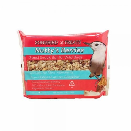 Wildlife Sciences WSC914 8 oz Nuttys Berries Seed Bar Perspective: front