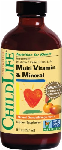 ChildLife Kids Multi Vitamin & Mineral Liquid Dietary Supplement Perspective: front