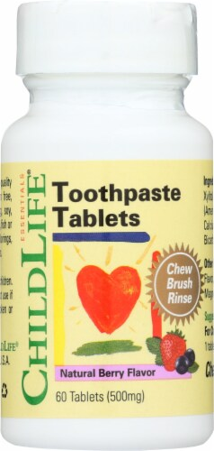 ChildLife Natural Berry Toothpaste Tablets Perspective: front