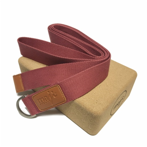 Cork Block & Strap Combo (Red) Perspective: front