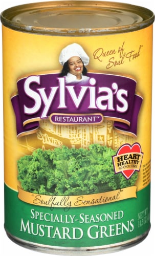 Sylvia's Specially Seasoned Mustard Greens Perspective: front