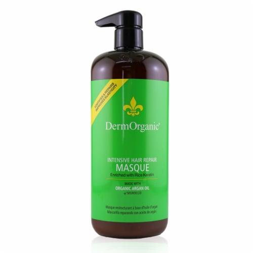 DermOrganic Intensive Hair Repair Masque with Argan Oil 33.8 oz Perspective: front