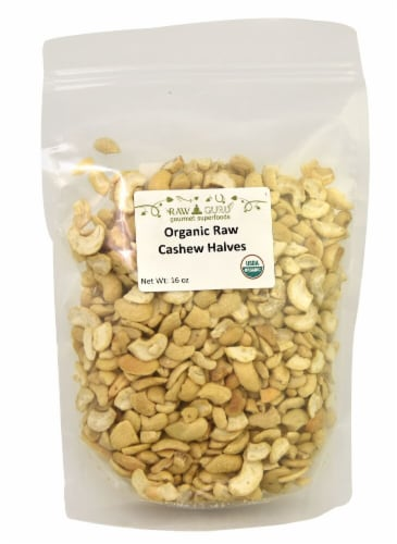 Windy City Organics  Raw Guru Organic Raw Cashew Halves Perspective: front