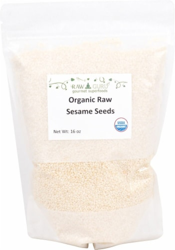 Windy City Organics  Guru Organic Hulled Raw Sesame Seeds Perspective: front