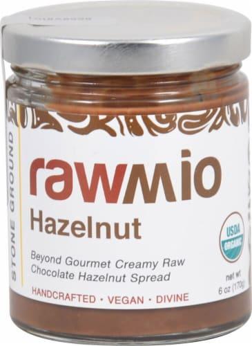 Windy City Organics  Rawmio Hazelnut Spread   Chocolate Perspective: front