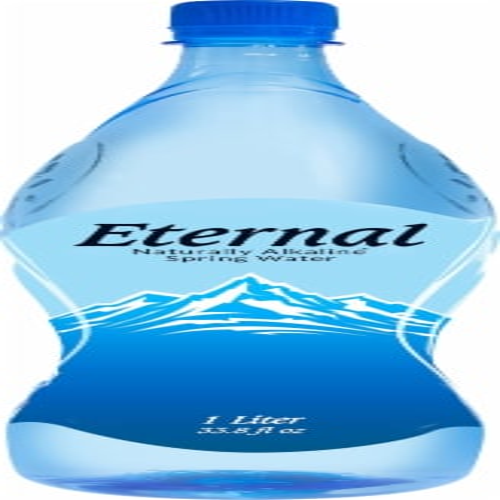Eternal Alkaline Spring Water Perspective: front