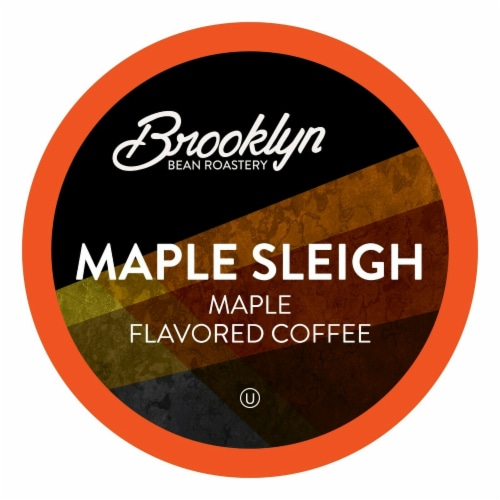 Brooklyn Beans Maple Sleigh Coffee Pods for Keurig K-Cups Coffee Maker, 40 Count Perspective: front