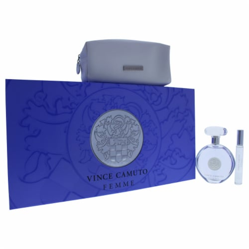 Vince Camuto Vince Camuto Femme 3.4oz EDP Spray, 0.2oz EDP Rollerball (Mini), Cosmetic Bag 3 Perspective: front
