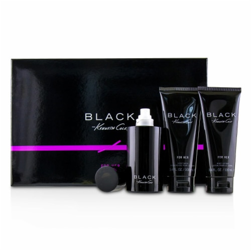 Kenneth Cole Kenneth Cole Black 3.4oz EDP Spray, 3.4oz Body Lotion, 3.4oz Shower Gel 3 Pc Gif Perspective: front