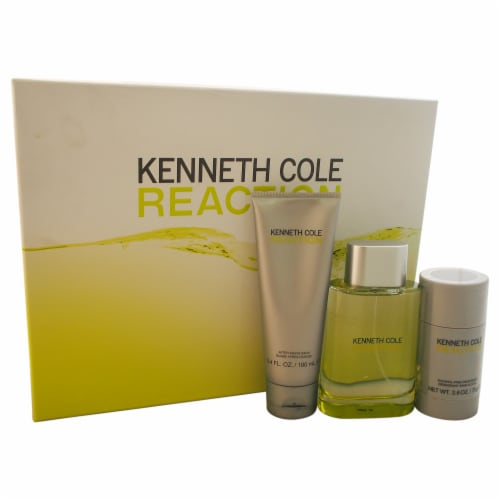 Kenneth Cole Kenneth Cole Reaction 3.4oz EDT Spray, 3.4oz After Shave Balm, 2.6oz Deodorant S Perspective: front