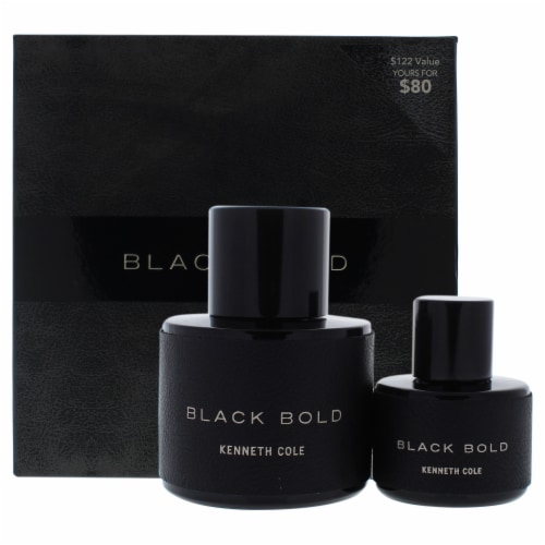 Kenneth Cole Black Bold 3.4oz EDP Spray, 1.0oz EDP Spray 2 Pc Gift Set Perspective: front
