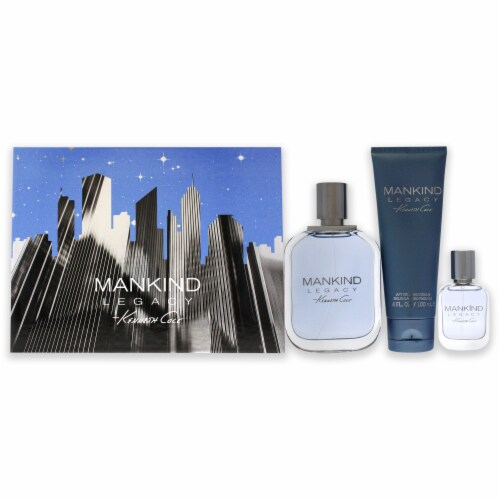 Kenneth Cole Mankind 3.4oz EDT Spray, 0.5oz EDT Spray, 3.4oz After Shave 3 Pc Gift Set Perspective: front