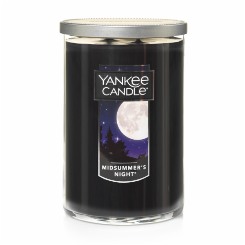 Yankee Candle Midsummers Night Large Tumbler Candle - Navy Perspective: front