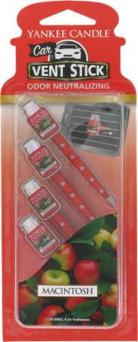 Yankee Candle Car Vent Stick Macintosh Air Freshener Perspective: front