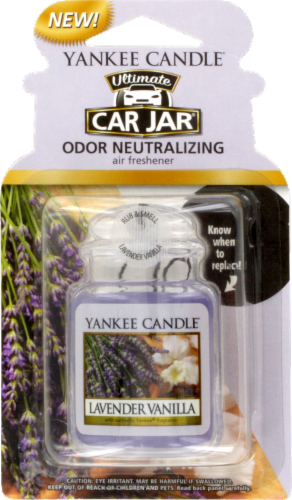 Yankee Candle Ultimate Car Jar Lavender Vanilla Air Freshener Perspective: front