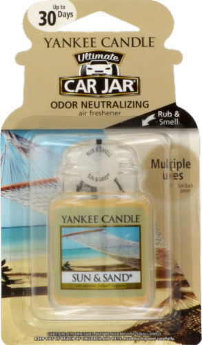 Yankee Candle Ultimate Car Jar Sun and Sand Air Freshener Perspective: front