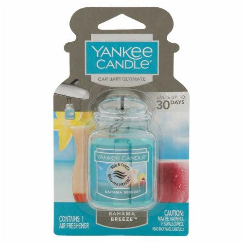 Yankee Candle Car Jar Bahama Breeze Ultimate Air Freshener Perspective: front