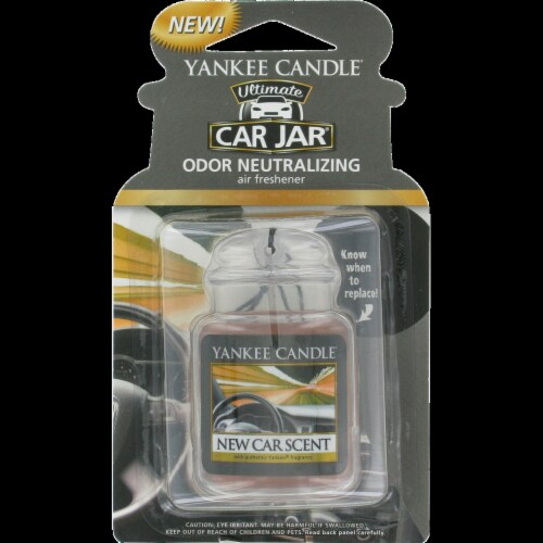 Yankee Candle Car Jar Ultimate New Car Scent Air Freshener Perspective: front