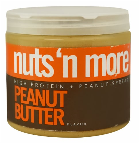 Nuts N More  High Protein Peanut Spread   Peanut Butter Perspective: front
