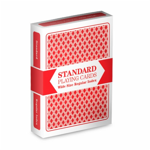 Red Deck Brybelly Playing Cards (Wide Size, Standard Index) Perspective: front