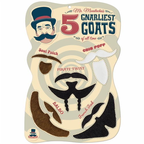 Mr. Moustachio's 5 Gnarliest Goats of All Time Perspective: front