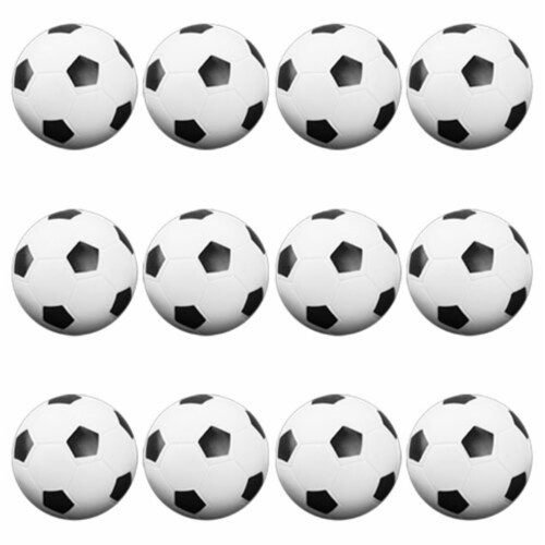 Brybelly Holdings GFOO-001 12 Black and White Soccer Style Foosballs Perspective: front