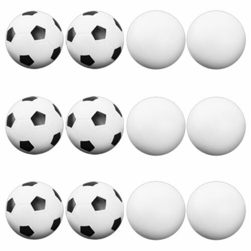 Brybelly Holdings GFOO-003 12 Mixed Foosballs, Includes 6 Soccer Style and 6 Smooth Perspective: front
