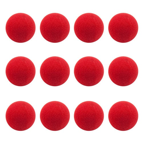 12-Pack of Clown Noses Perspective: front