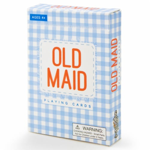 Old Maid Illustrated Card Game Perspective: front