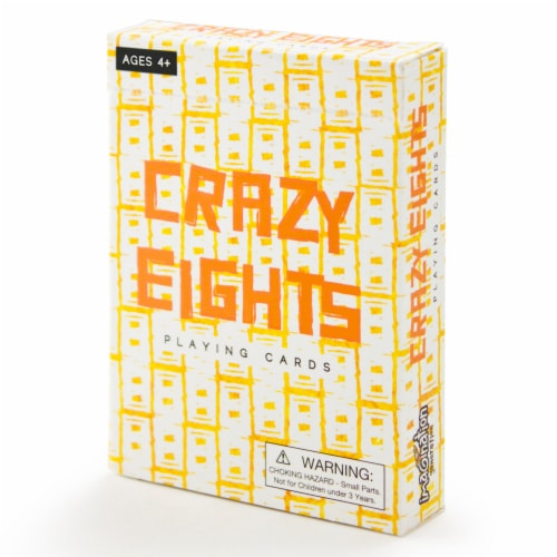 Crazy Eights Illustrated Card Game Perspective: front