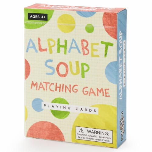 Alphabet Soup Matching and Memory Card Game Perspective: front