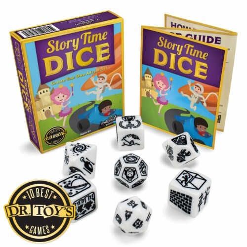 Story Time Dice, Create Your Own Adventure Storytelling Game Perspective: front