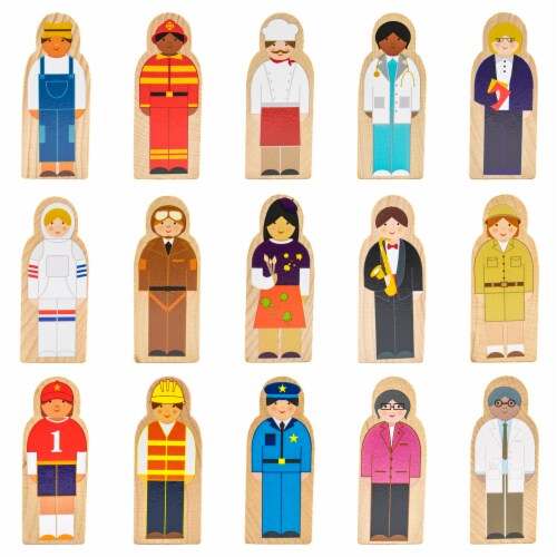 Little Professionals Wooden Character Set Perspective: front