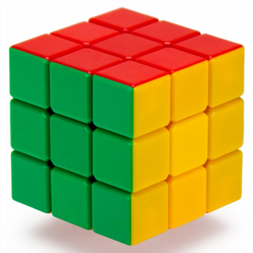 3x3x3 Stickerless 6-Color Speed Puzzle Cube Perspective: front