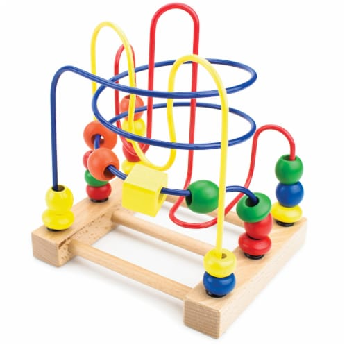Developmental Wooden Bead Maze Game Perspective: front