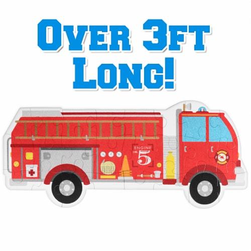 24 Piece Jumbo Fire Engine Floor Puzzle Perspective: front