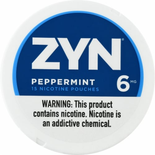 ZYN Peppermint 6mg Nicotine Pouches Perspective: front
