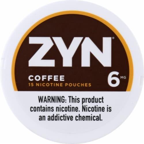 ZYN Coffee 6mg Nicotine Patches Perspective: front