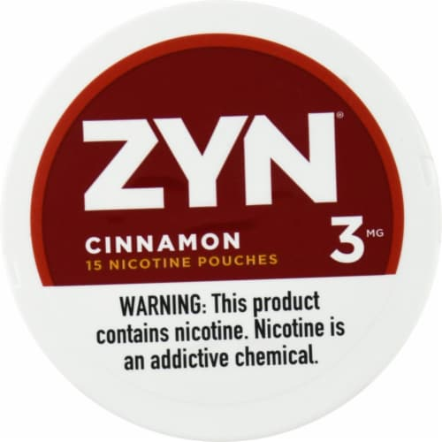 ZYN Cinnamon 3mg Nicotine Pouches Perspective: front