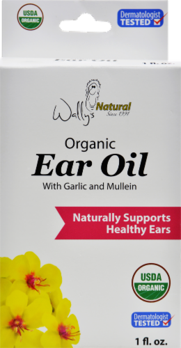 Wally's Natural Organic Ear Oil Perspective: front