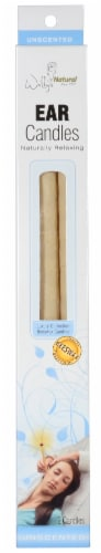 Wally's Natural Unscented Beeswax Ear Candles Perspective: front