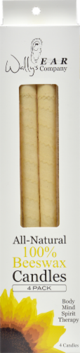 Wally's 100% Beeswax Candles Perspective: front
