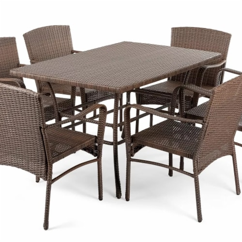 CTE Trading CTE1616SET7 7 Piece Outdoor Dining Patio Furniture Set Perspective: front