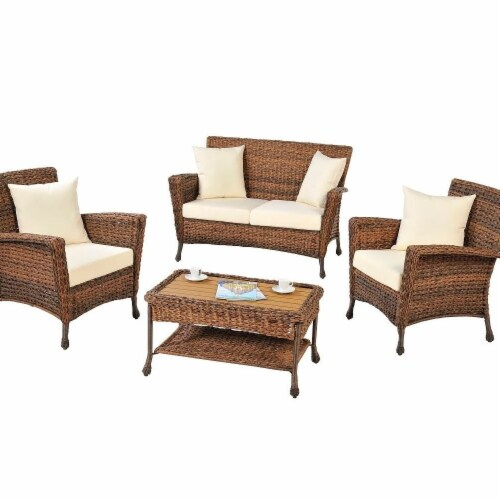 CTE Trading CTE1529SET4 4 Piece Outdoor Garden Patio Furniture Set with Table Perspective: front